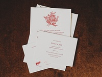 Letterpressed Invitation Suite