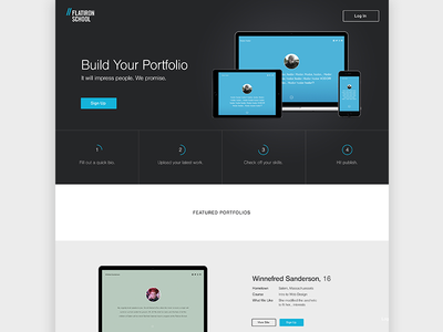 Portfolio Generator Landing Page by Hope Reagan - Dribbble