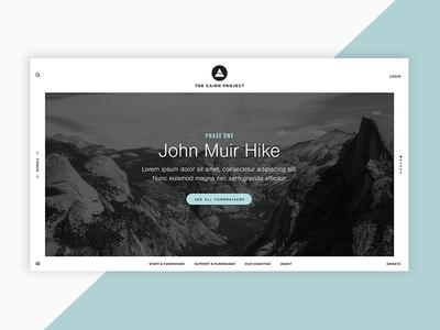 Cairn Project Website Concept design charity adventure nonprofit branding digital web design website
