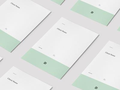 Client Deck Templates grid layout client decks identity branding print