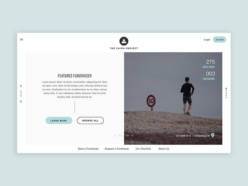 The Cairn Project fundraiser non-profit branding digital website