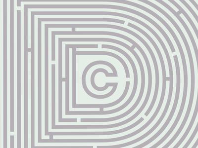 Maze trippy graphics design maze logo branding