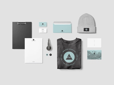 Cairn Project Branding letterhead t-shirt stickers business cards swag identity logo stationery branding