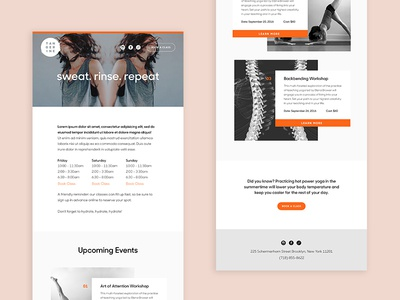 Email Template urban health yoga template email branding