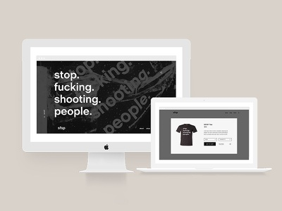 SFSP website modern minimal shop responsive digital ecommerce website web design