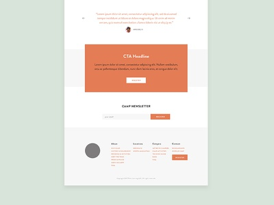 Website Template modern minimal responsive digital camp website web design