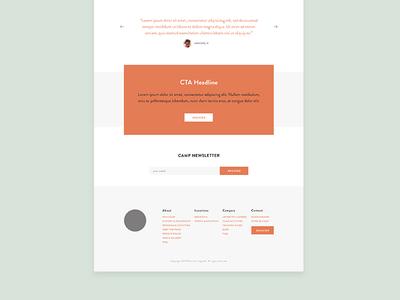 Website Template modern minimal responsive digital camp website web design