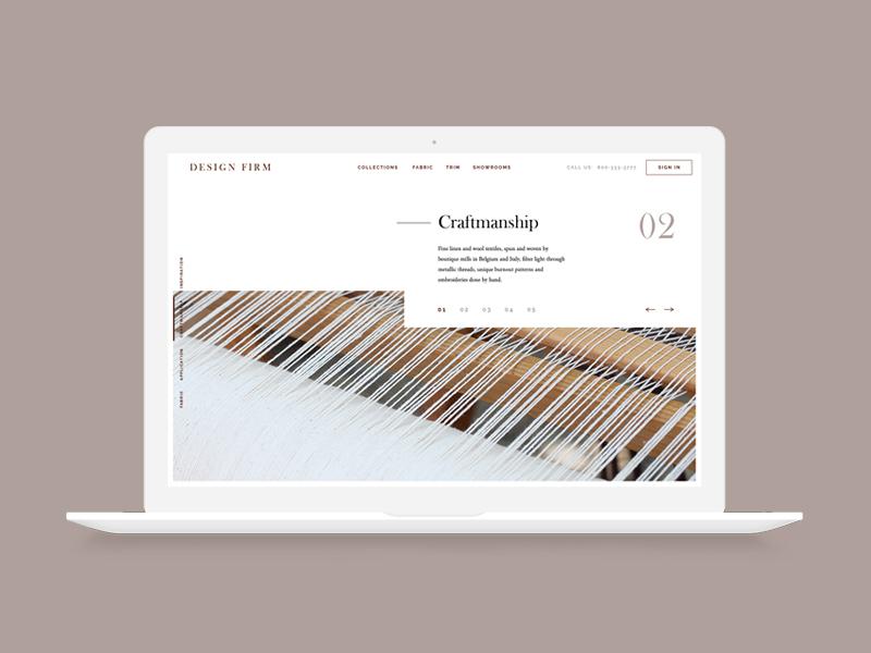 Design Firm Website responsive textiles interior design design firm web design
