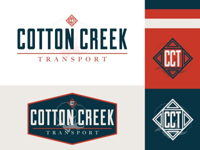 Cotton Creek Logo badge logo logo design american branding and identity logo branding