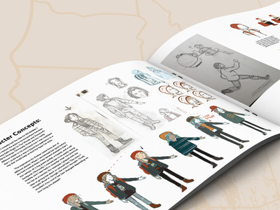 Hitchhiker Art Book art book character concept charachter design concept art layout illustration student work