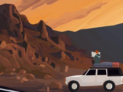 Hitchhiker Illustration