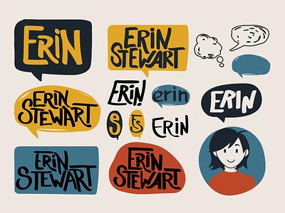 Personal Brand Logo Explorations personal branding personal logo comic cartoon illustrator logo design
