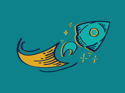 Cosmic Cafe Rocket rocket logo rocketship vector illustrator space rocket logodesign logo
