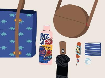 Bag W I P illustrator vector illustration