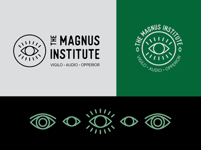 The Magnus Institute Logo the magnus archives the magnus archives eye logo podcasts podcast logo eye logo exploration logodesign logo