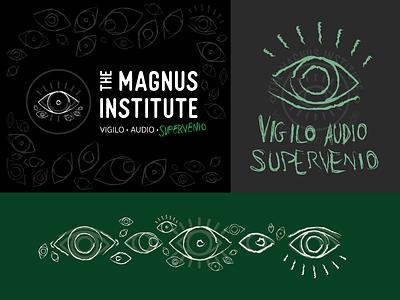 The Magnus Institute - Watcher's Crown eye logo eye podcast podcast logo logo exploration logo design logo