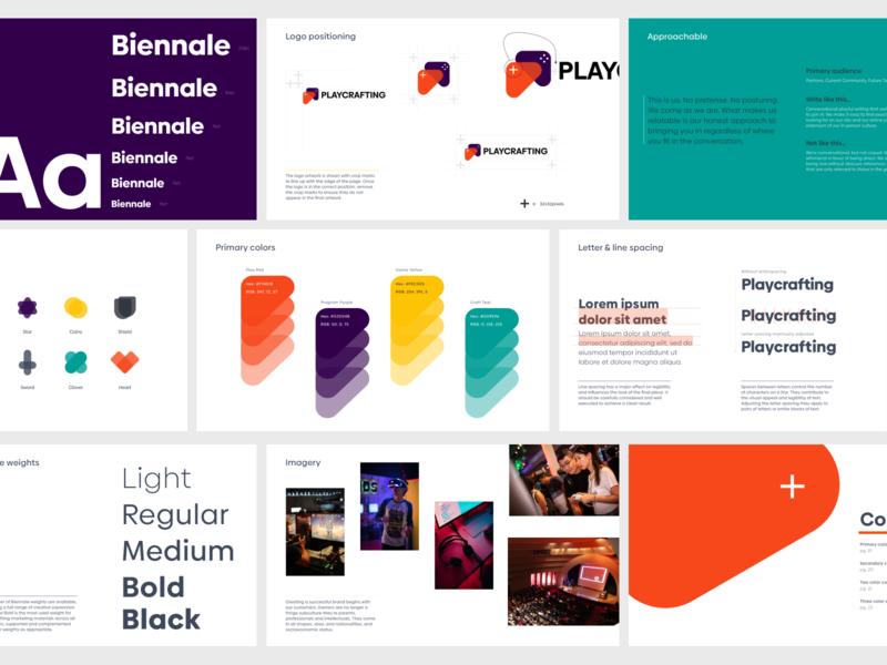 Brand Guide icon vector logo branding visual design layout design