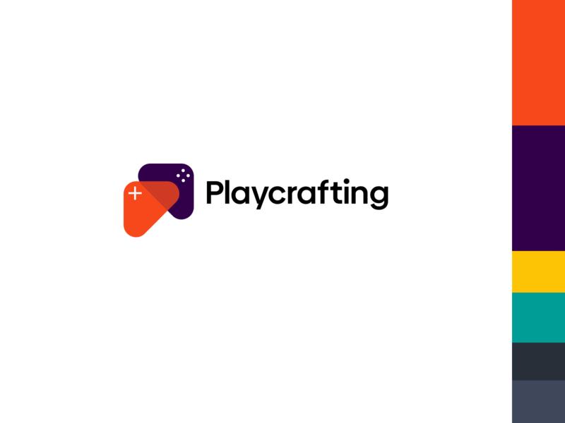 Playcrafting Logo icon vector logo branding typography design