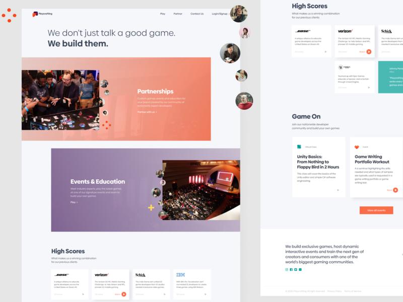 PC Website ui web web design website visual design layout design