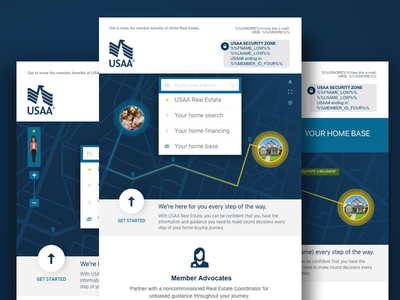 Real Esate usaa visual design concepts crm design layout emails