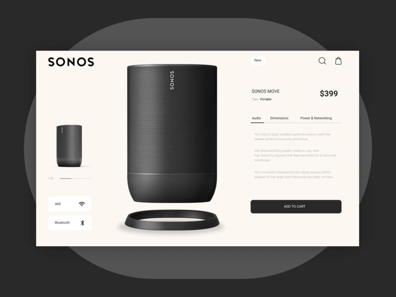 E-Commerce Shop (Single Item) web design website typography visual design layout ui design dailyui