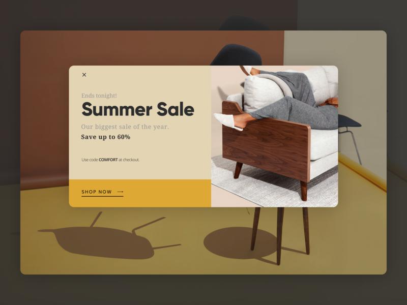 Pop-Up / Overlay web design layout visual design ui design dailyui