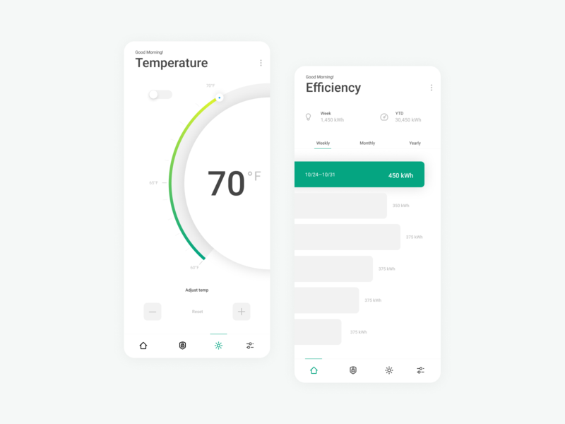 Home Monitoring Dashboard icon app layout ux daily ui dailyui ui design