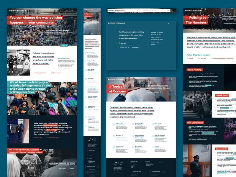 Policing Campaign web design website visual design layout design
