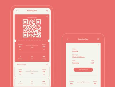Boarding Pass app layout visual design dailyui ui design