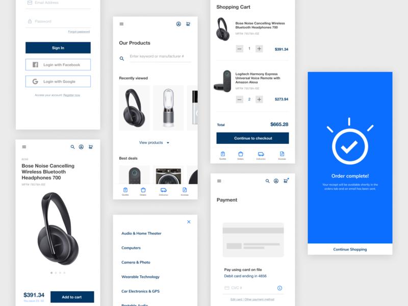 ecommerce mockup app typography visual design ui design