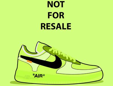 OffWhite Neon Nike illustration