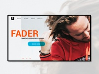 Fader: Barber Shop Site Concept