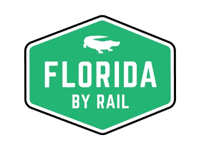 Florida By Rail Logo graphic design vector app florida illustrator branding logo