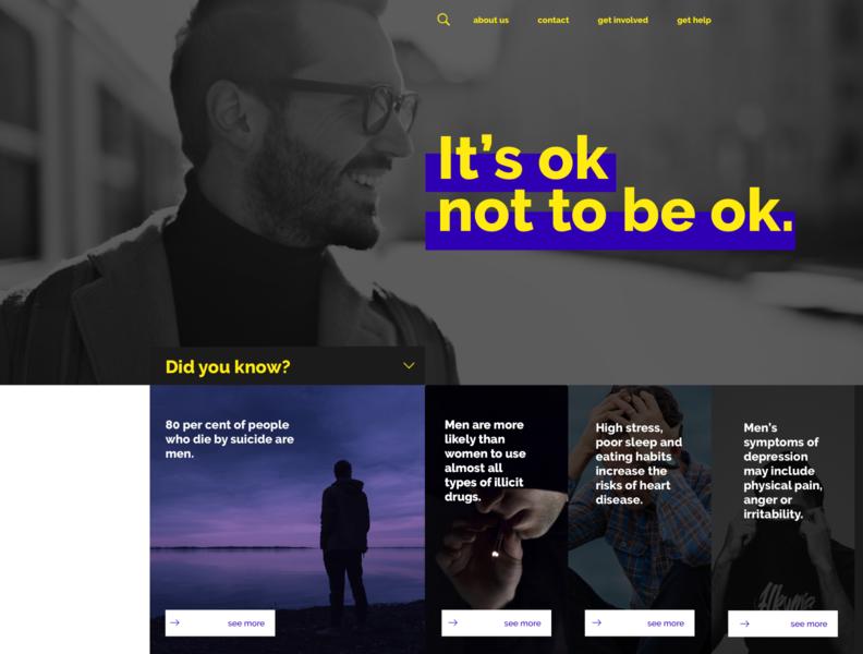 Mental Health Website ui design layout sketch ui ux