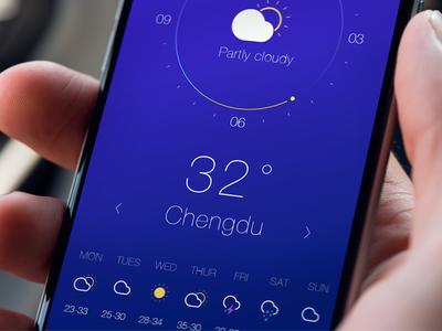 Weather App Concept concept app weather