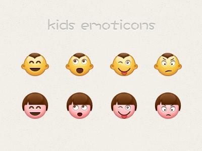 kids emoticons kids emoticons emotion icon