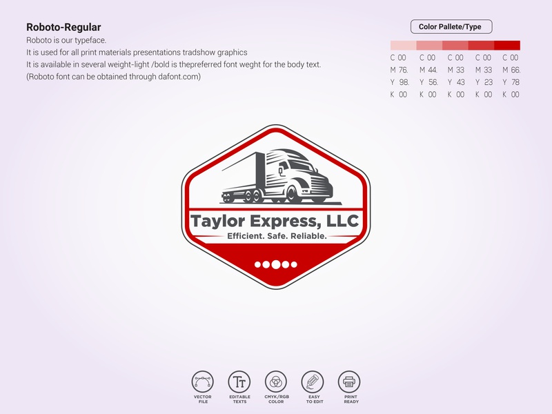 "truck company logos ""Taylor Express"""