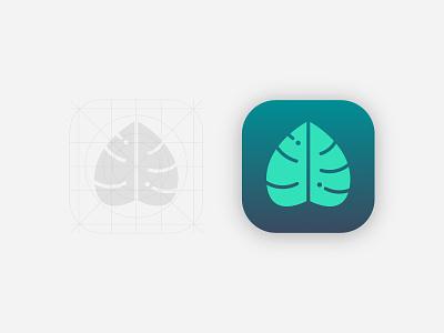Monstera App Icon event branding ui perth designer logodesign graphicdesign logo branding