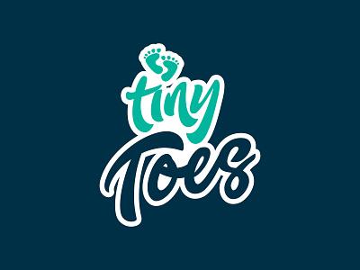 TINY TOES illustrator vector logodesign brandidentity perth designer logo design logo design graphicdesign branding
