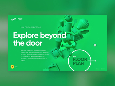 Explore Beyond The Door 360 3d brand animation develop colourful homepage corporate webdesign ux clean website ui