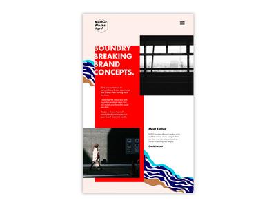 Web Site Design for Mother Works Hard pattern design web design brand identity