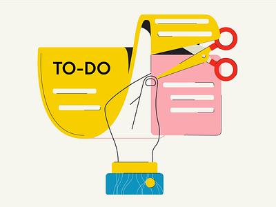 """Reduce Tasks"" Illustration minimal web app icon branding ux vector ui design visual illustration"