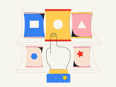 Variety of Options flat app web icon ux ui branding illustration design visual