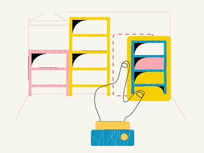 """Easy to Build"" app web vector icon ux ui branding illustration design visual"
