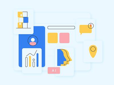 Dashboard flat app web icon ux ui branding illustration design visual