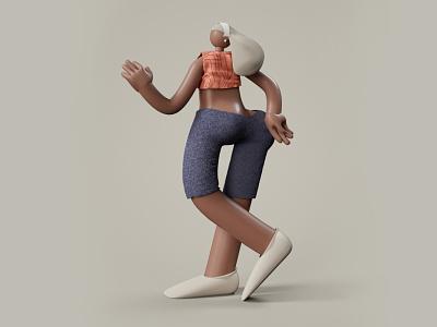 Big Girl icon c4d motion animation branding ui 3d illustration design visual