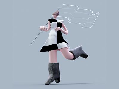 rebel branding animation 3d illustration c4d design visual