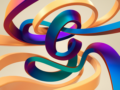 Letter G brushtype identity illustration 3d c4d design typo type visual typography