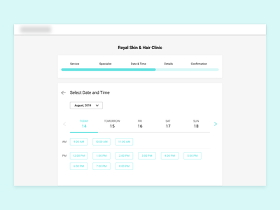Appointment Booking - Date and time selection time dates ui design appointment booking date and time datepicker