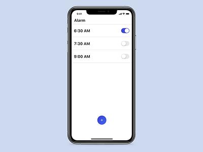 Alarm App set alarm animated clock microinteraction ui alarm app alarmclock alarm
